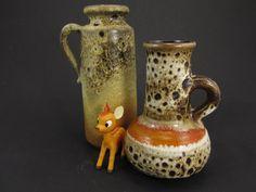 Vintage Keramik Vasen-Set (Krüge) / Fat Lava | West German Pottery | 60er von ShabbRockRepublic auf Etsy