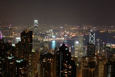 Hong Kong from the Peak. The city is a beauty I can not touch.