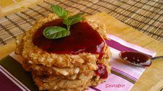 Almás zabpelyhes amerikai palacsinta - Salátagyár Healthy Cake, Healthy Recipes, Pancake Dessert, Recipe Mix, Recipe Ideas, Vegan Sweets, Sweet Tooth, Food And Drink, Pie
