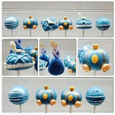 These Cinderella cake pops, which are so beautiful, they had to have been made by her Fairy Godmother.   27 Disney Princess Confections That Will Blow Your Mind