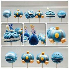 Estes cake pops da Cinderela, que de tão bonitos poderiam ser feitos por sua fada madrinha. | 27 bolos de princesas da Disney que vão te surpreender