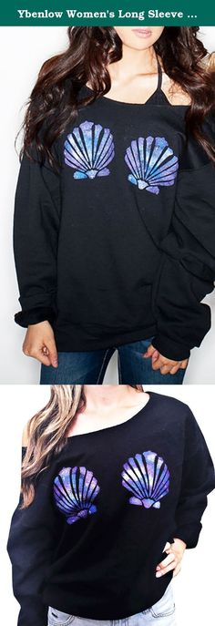 Ybenlow Women's Long Sleeve Chic Seashells Slouchy Pullover Sweatshirt Tops (Medium, Black-1). The size is measured by hands just for reference Please choose the correct size according to your own measurements combined with our size measurement before making the purchase. Thanks Size measurement: S:Bust:114cm------Length:57cm----Sleeve:47cm M:Bust:118cm------Length:58cm----Sleeve:48cm L:Bust:122cm------Length:59cm----Sleeve:49cm XL:Bust:126cm------Length:60cm----Sleeve:50cm.
