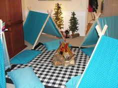 Indoor camping - girls birthday sleepover party one day ?