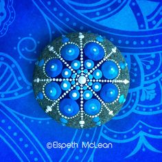 Snowflake Mandala Stone by Elspeth ; I love everything about this!