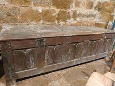 Gothic linenfold chest