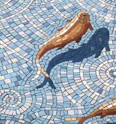 goldfish mosaic by Gary Drostle (what creativity, the way he did the shadow!)