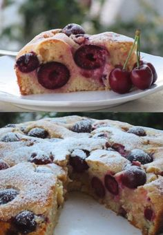 Little Bites, Cherry Cake, Greek Recipes, Nutella, Chocolate Cake, Cake Recipes, French Toast, Recipies, Food And Drink