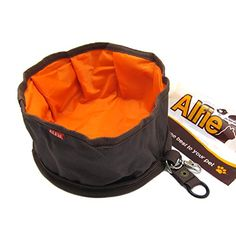 Alfie Pet by Petoga Couture  Fabric ExpandableCollapsible Travel Bowl for food and water  Color Brown ** Continue to the product at the image link-affiliate link.