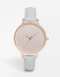 ASOS Honeycomb Dial Detail Watch