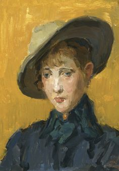 Isaac Israels - An elegant girl in a hat@@
