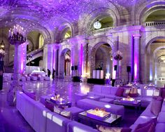 Nina and Gidi's Wedding @nypl by Lindsay Landman Events. Photo by CAVA Weddings #LLEvents #wedding #lounge #area
