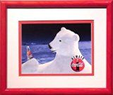 "Get This Special Offer #7: Coca Cola Polar Bear ""Yes!"" Framed Miniature Lithograph"