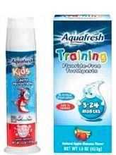 New $1/1 Aquafresh Kids Toothpaste Coupon in today's Red Plum insert + coupon from April Walgreens Coupon Book  = Free at Walgreens