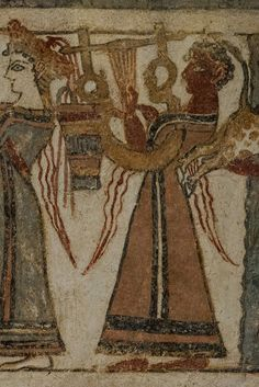 Agia Triada Sarciphagus -V: the earliest picture of the lyre.