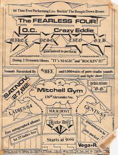 The Fearless Four   Old School Hip Hop Flyer, Nov 1982