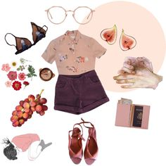 I had a dream that suddenly everything was pink by parenchymas on Polyvore featuring J.Crew, Chalayan, Royce Leather and Linda…