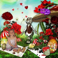 Bribri62-Scrap: Ma page avec le Kit Easter to Wonderland de Kittyscrap Rak pour Didine