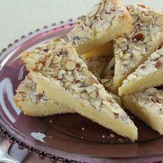 Skillet Almond Shortbread.  Recipe link: http://www.foodnetwork.com/recipes/trisha-yearwood/skillet-almond-shortbread-recipe/index.html