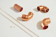 Yesterday's Sweetheart: Do It Yourself >> Copper Pipe Necklace