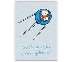Lustige Babykarte mit Rakete - http://www.1agrusskarten.de/shop/lustige-babykarte-mit-rakete/    00024_0_2718, Baby, Babykarte, Geburt Anzeige, Geburtsanzeige Rakete, Gratulation zum Jungen, Grusskarte, Klappkarte, Welttall00024_0_2718, Baby, Babykarte, Geburt Anzeige, Geburtsanzeige Rakete, Gratulation zum Jungen, Grusskarte, Klappkarte, Welttall