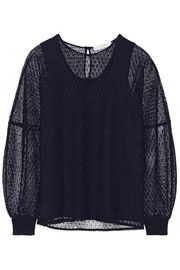 ChloéFloral-lace and wool and cashmere-blend top