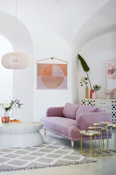 lilac sofa