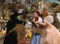 Judy Garland, Billie Burke and Margaret Hamilton in The Wizard of Oz