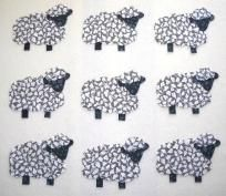 9 Easy to Use Sheep Fabric Appliques  ----Just Iron On---