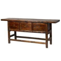Wisteria - Furniture - Shop by Category - Consoles & Buffets - Vintage Chinese Butcher's Table