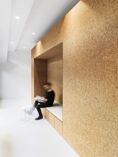 Heart Treatment Clinic in Zurich by Dost Architects Loft Office, Office Workspace, Office Interior Design, Office Interiors, Plywood Interior, Cladding Materials, Workplace Design, Co Working, Coworking Space