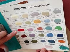 """Annie Sloan's Chalk Paint colors matched to Behr paint colors, from Home Depot (a/o 2015)    Example:  