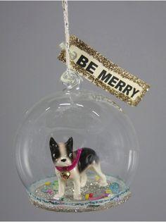French Bulldog Globe Decoration