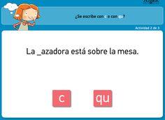 MUCHAS ACTIVIDADES CON CA,CO,CU,QUE QUI http://www.primerodecarlos.com/SEGUNDO_PRIMARIA/agosto/c_qu.swf