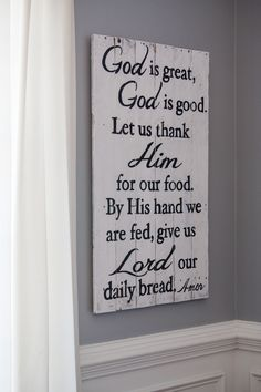 """Our """"God is Great"""" piece measures approximately 36""""X24"""" and in distressed white with black text, is $135.  If you are local to ATL and would like to negate shipping charges by picking up your sign, enter the discount code FREEATLANTAPICKUP at checkout."""