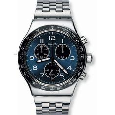 Mens Swatch Chronograph Watch YVS423G