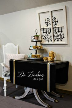 Duncan Phyfe Table Makeover