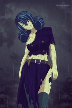 Fairy Tail.  Creepy Juvia. Post-battle ripped up costume might be an interesting one