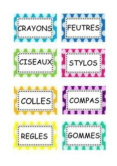 Etiquettes matériel & Cie French Classroom, Classroom Walls, School Classroom, Classroom Setup, School Organisation, Classroom Organization, Behavior Management System, Classroom Management, Class Displays