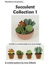 Ravelry: Succulent Collection 1 pattern by June Gilbank