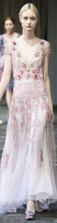 Luisa Beccaria Collection Spring 2015: obviously needs a cami  under it or lace inset