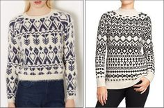 Fair Isle print sweaters