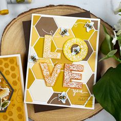 Love Stamps, Clear Stamps, Card Kit, I Card, Hexagon Cards, Acetate Cards, Tiny Gifts, Bee Cards, Bee Theme