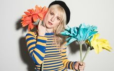 Hayley with Brian for goodDYEyoung (By Lindsey Byrnes) - - Paramore Photos Paramore Quotes, Paramore Lyrics, Hayley Paramore, Paramore Hayley Williams, Hayley Williams Blonde, Paramore Wallpaper, Good Dye Young, Taylor York, Little Doll