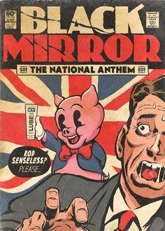 Black Mirror vintage comics