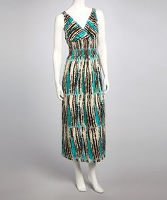 Take a look at this Green & Brown Surplice Maxi Dress by Cassees on #zulily today!  $14.99, regular 40.00