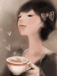 Amor y cafe Coffee Talk, Coffee Girl, I Love Coffee, Coffee Break, Coffee Lovers, Retro Cafe, Coffee Drinks, Coffee Cups, Tea Cups