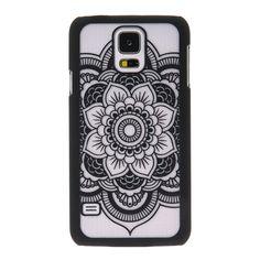 Frosted Black Mandala Pattern Phone Case - Samsung Galaxy 5*