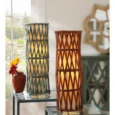 Bamboo uplights are trendy! These charming accent table lamps are ready to light up any area in your home!