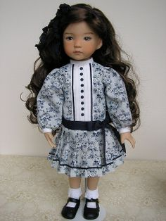 Carrie, Little Darling painted by Geri Uribe, dress by by Tomi Jane, via Flickr