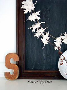Autumn Book Page Garland